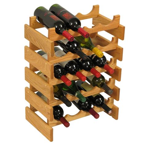 A Wine Rack The Will by Countertop Oak Wood Wine Rack Wine Bottle Display Stand