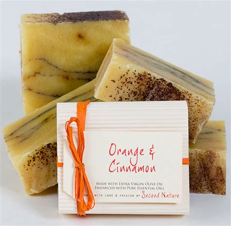 By Nature Handmade Soap - orange and cinnamon handmade soap by second nature soaps