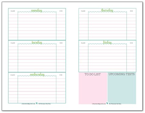 printable student homework planner 2015 getting ready for back to school student planner printables