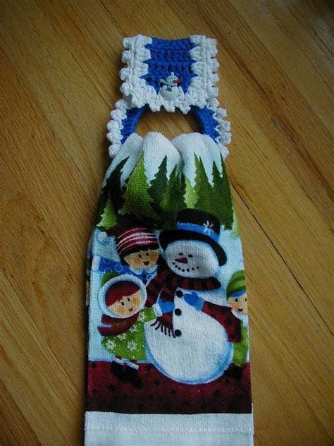 pattern for hand towel holder christmas crochet towel holder with towel crochet towel