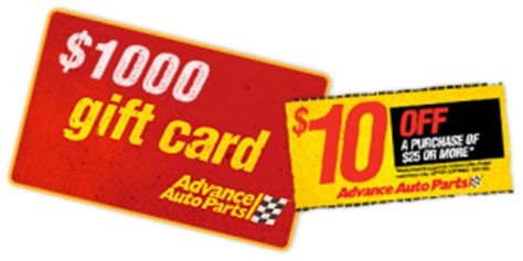Advance Auto Parts Gift Card Discount - advance auto parts 10 off 25 printable coupon
