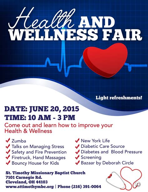 Health Fair Flyer Template Www Imgkid Com The Image Kid Has It Health And Wellness Flyer Template