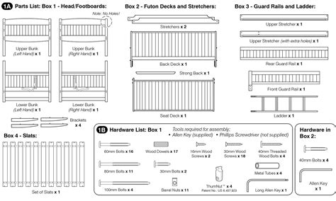 futon bunk bed assembly instructions assembly instructions of cinnamon futon bunk bed how to