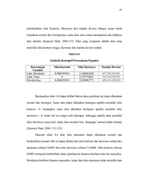 Memanfaatkan Excel Untuk Analisis Statistik By Syamsul Hadi analisis hubungan antara laba akuntansi dan laba tunai