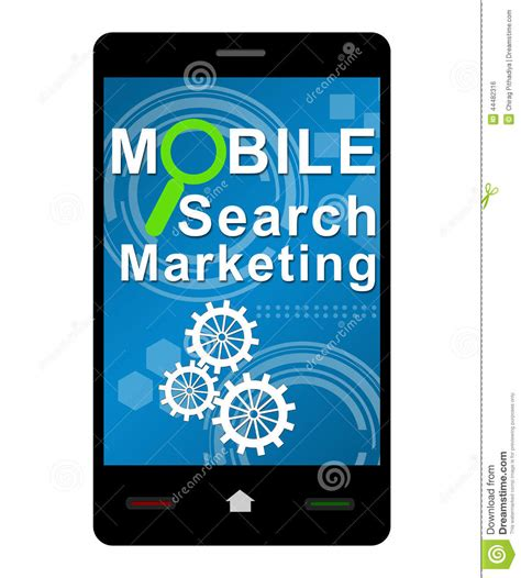 Mobile Search Mobile Search Marketing Smartphone Stock Illustration Image 44482316