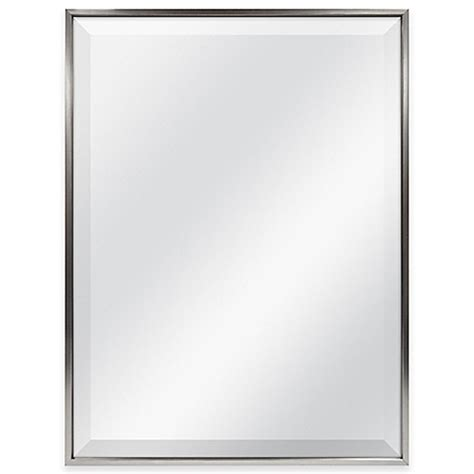 18 inch bathroom mirror slim border 24 inch x 18 inch rectangular mirror in pewter