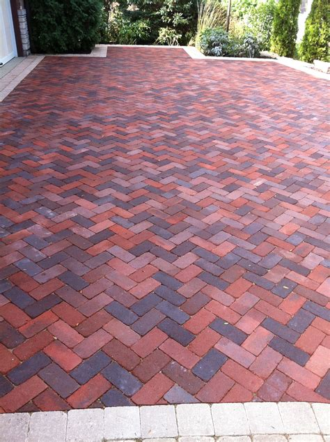 terrace patio brick patterns driveway ideas for your