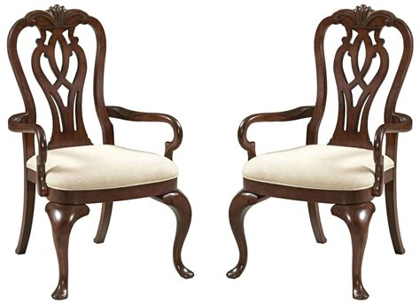 queen anne armchairs hadleigh queen anne arm chair set of 2 from kincaid