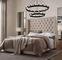 King Size Bed Frame Restoration Hardware Adler Tufted Platform 68 Quot Bed Upholstered Beds