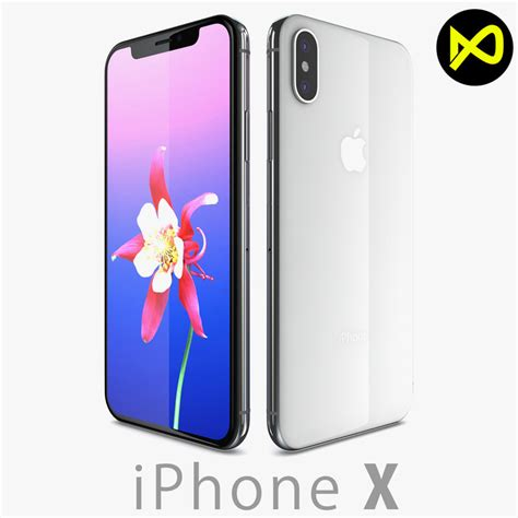 apple iphone x 3d turbosquid 1205760