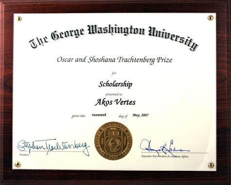 Gw Mba Scholarships by Vertes Research Akos Vertes