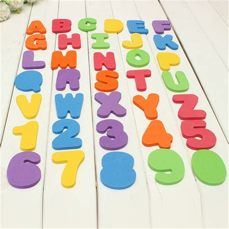 foam bathtub letters 36pcs baby kids toddler a z 0 9 foam letters numbers