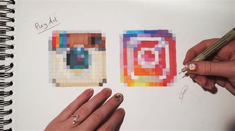 6 Drawing Media by Social Media Drawing Instagram Logos Pixel