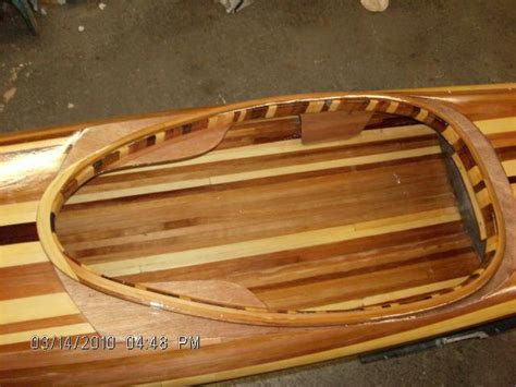 Handmade Wooden Kayak - almost done guillemot kayaks small wooden boat designs