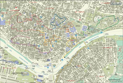 maps of maps of sevilla