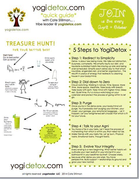 Home Detox Guidelines by 5 Steps To Detox Cheatsheet Yogahealer