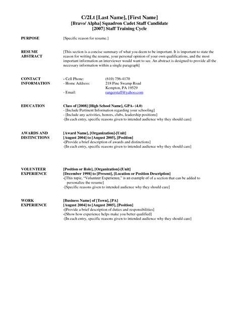 Bad Resume Exles For Highschool Students Exles Of Bad Resumes Template Resume Builder