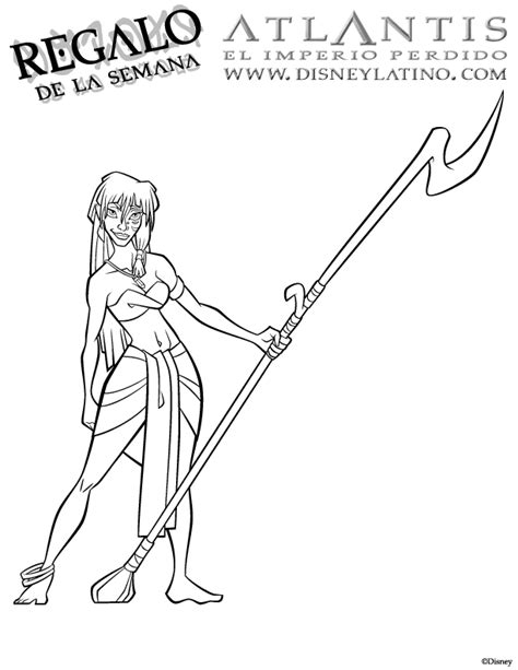 princess kida coloring page atlantis coloring pages coloring pages for kids disney