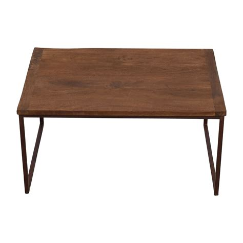 barn wood coffee tables for sale pottery barn pottery barn wood and metal rectangle coffee