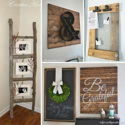 diy decor projects home 31 rustic diy home decor projects refresh restyle