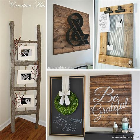 Handmade House Decorations - 31 rustic diy home decor projects refresh restyle