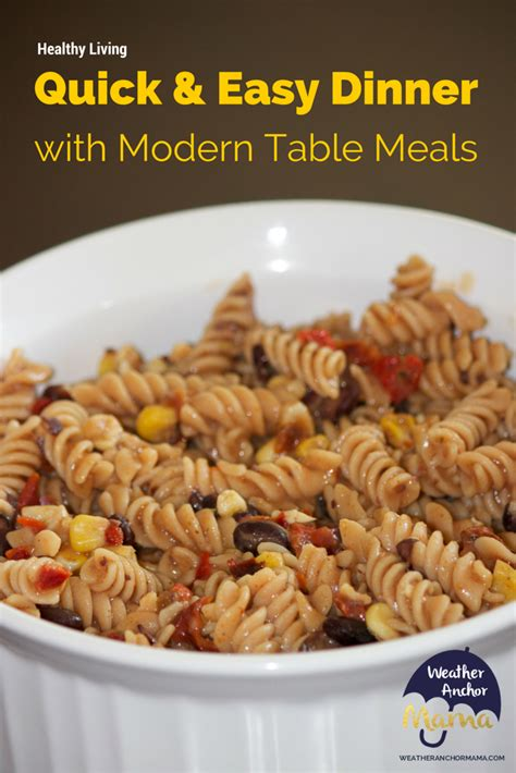 and easy healthy dinner with modern table meals