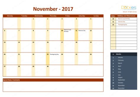 Calendar 2017 Excel With Holidays 2017 Calendar Template With Holidays For Excel Dotxes