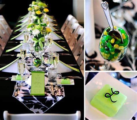 Black White Green Shower   Party Ideas   Pinterest