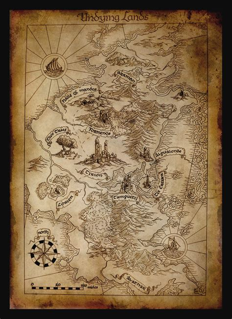 east middle earth map map of aman by amegusa on deviantart