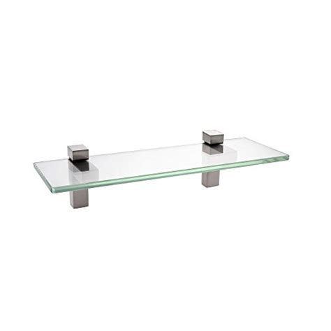 Compare Price To Brushed Nickel And Glass Shelves Glass Bathroom Shelves Brushed Nickel