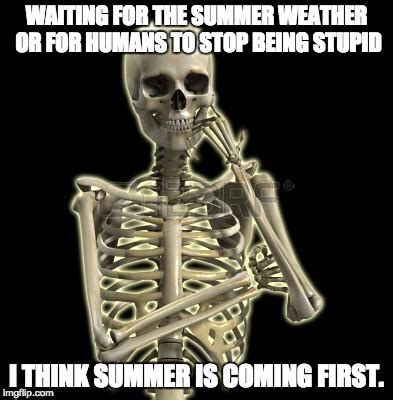 thinking skeleton imgflip