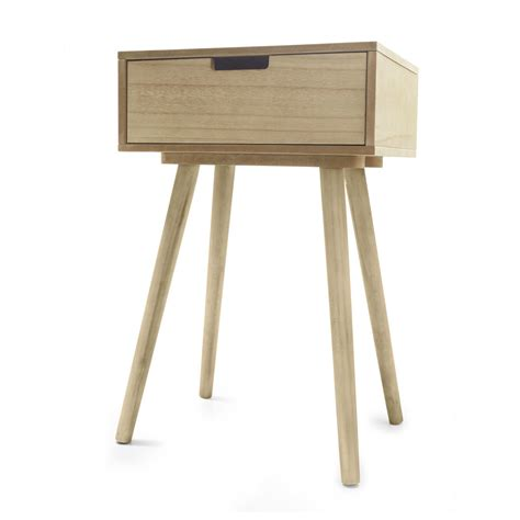 kmart side table side drawer natural kmart