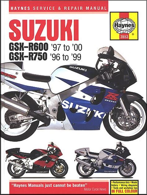 Suzuki Gsxr600 Gsxr750 Sportbike Repair Manual 1996 2000