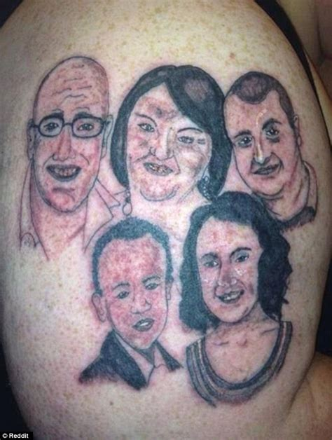 bad portrait tattoo terrible tattoos of bad portraits and animal drawings are