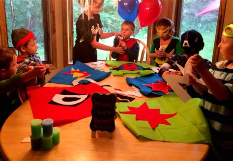 themed party jobs superhero birthday party ideas these little waves