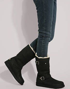 biker boots brands ugg kensington black biker boots uk 7 100 authentic brand