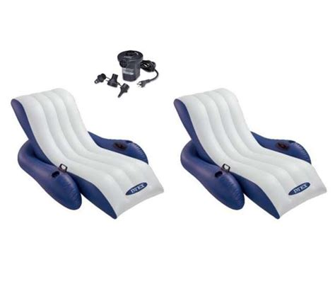 Intex Floating Recliner Lounge 2 Intex Floating Recliner Lounge With Cup Holders Fill Air 58868ep 66619e
