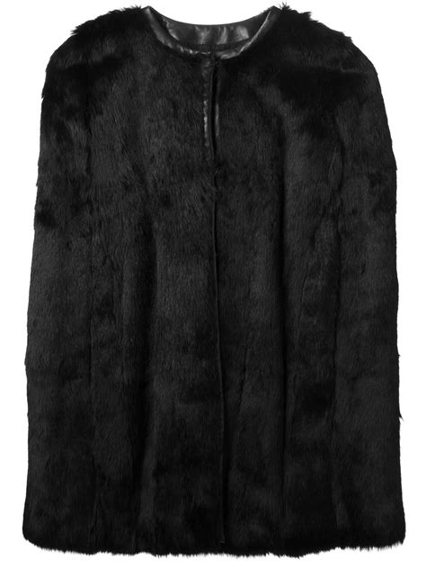 Get An Ermine Fur Cape Formerly Owned By Jean Harlow by Lyst Joseph Rabbit Fur Cape In Black