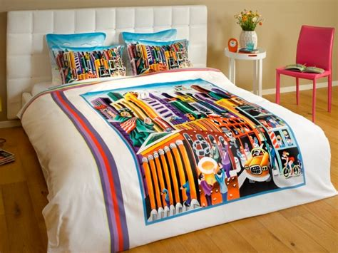 funky duvet cover quot my new york quot contemporary duvet