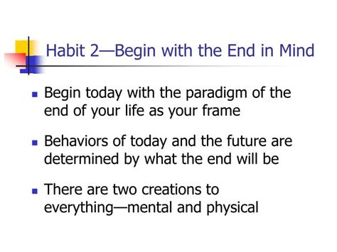 with the end in mind dying and wisdom in an age of books ppt the 7 habits of highly effective powerpoint