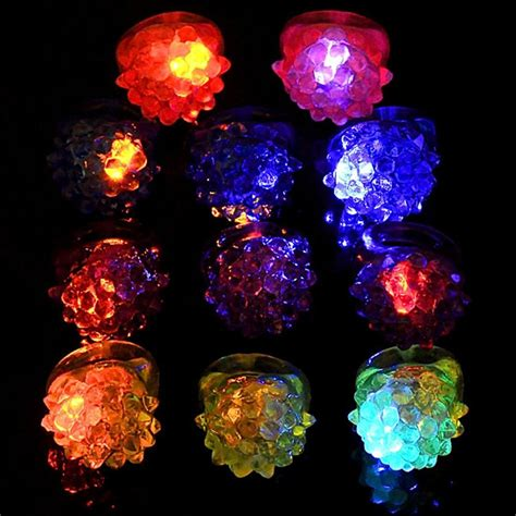light up party favors 12x light up jelly bumpy rings flashing led bubble rave