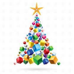 Christmas tree clipart free abstract christmas tree of