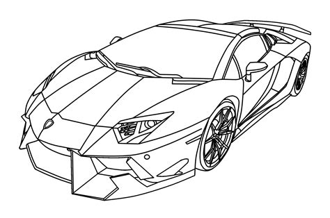 lamborghini aventador drawing outline lamborghini pencil and in color lamborghini