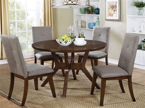 walnut dining room set abelone walnut round dining room set dining sets
