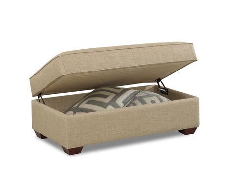 Contemporary Storage Ottoman By Klaussner Wolf And Ottoman Storage Chair