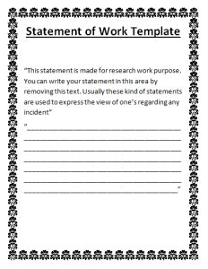statement of work done template free word templates
