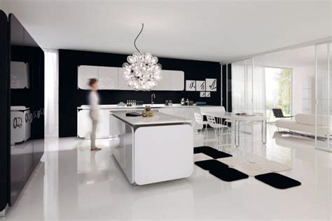 open kitchen living room design with modern space saving