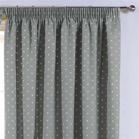 Grey Blackout Curtains Sundour Dotty Thermal Blackout Readymade Curtains Grey