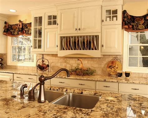 houzz country country kitchen