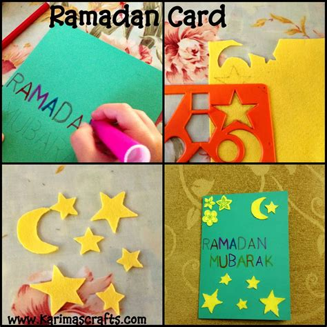 how to make an eid card karima s crafts designing ramadan and eid cards 30 days